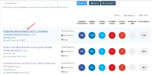 find a saas content topic on buzzsumo