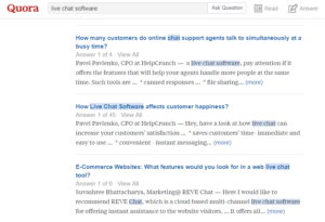 find a saas content topic on quora
