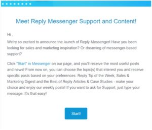 messenger chatbot for support and content