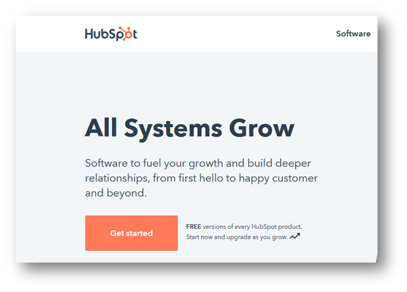 HubSpot CTA screen shot