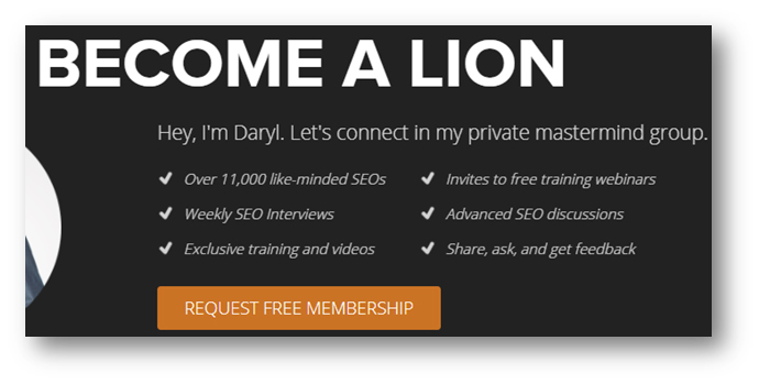 LionZeal CTA screen shot
