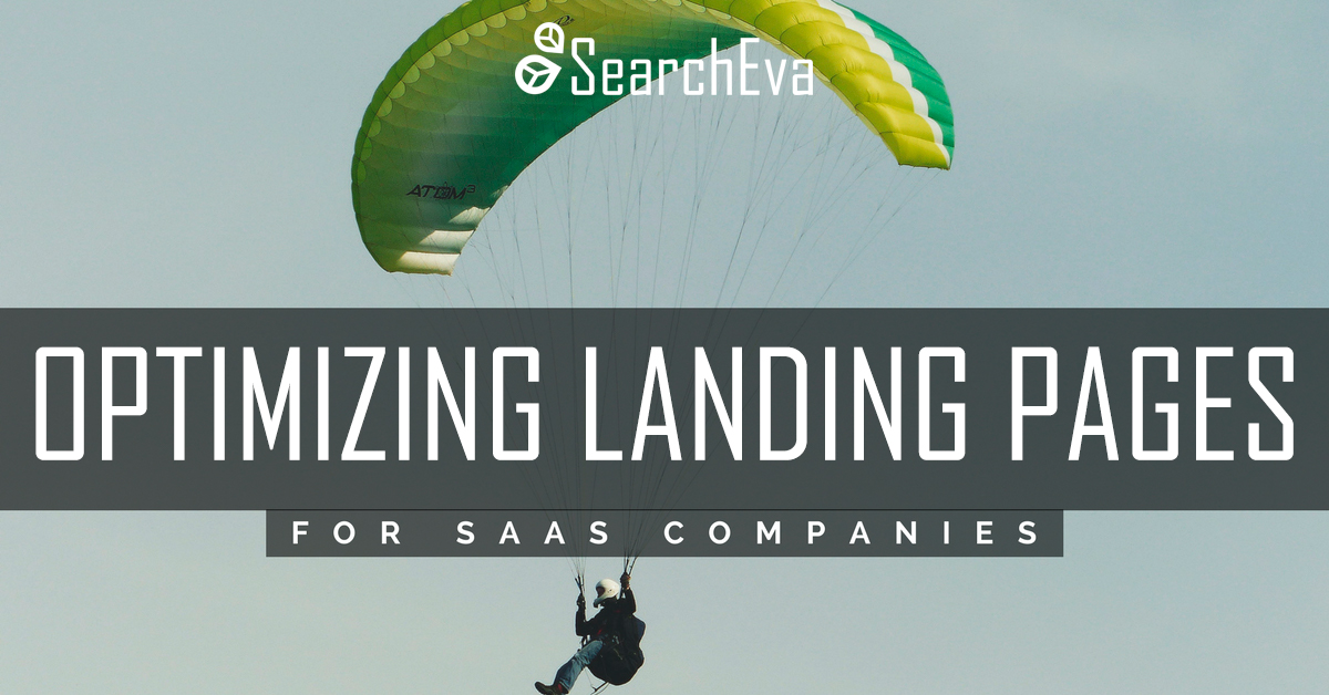 Title Landing page optimization yellow-green parachute